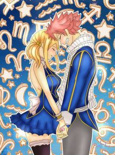Oh! Natsu and Lucy in the celestial spirit world. Fairy Tail Nalu (Natsu and Lucy).Thank you to the creator!