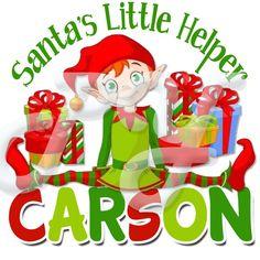 Santa's Helper Elf personalized Christmas t shirt