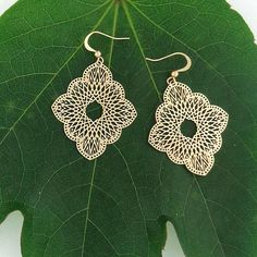 Online Shopping For LAVISHY Unique And Beautiful Filigree Earrings – LAVISHY Boutique Filigree Earrings, Gold Plated Earrings, Pendant Earrings, Flower Earrings, Crochet Earrings, Tech Accessories, Fashion Accessories, Fashion Jewelry, How To Make Light