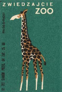 giraffe, polish matchbox
