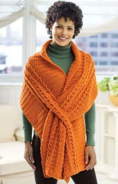 Wrap with Slits Free Crochet Pattern from Red Heart Yarns