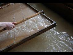美濃手漉き和紙工房Corsoyardの紙づくり「本美濃紙」 - YouTube