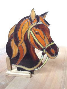 Stained glass Horse  Cheval en vitrail