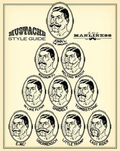 A mustache make a man!