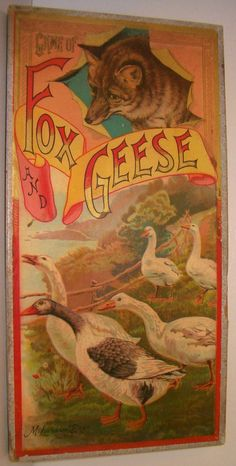 Game Of Fox and Geese Circa 1890 Mcloughlin Brothers Vintage Board Games, Brother, Fox, Painting, Ebay, Painting Art, Paintings, Foxes, Sibling