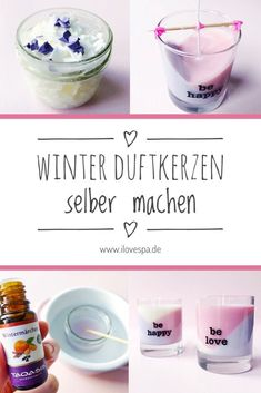 Unkitschige Duftkerzen selber machen mit weihnachtlichem Winterduft Make candles yourself / make scented candles yourself with Christmas scents – Here you will find a simple guide to pour scented candles # diyge Christmas Scents, Christmas Candles, Christmas Decorations To Make, Winter Christmas, Winter Diy, Diy Candles Scented, Aromatherapy Candles, Kitsch, Navidad Diy
