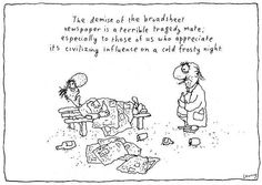 the demise of the broadsheet..