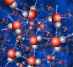 3-D Photo of Water Molecules