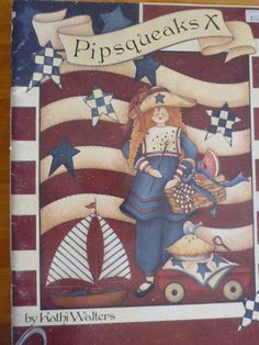 Pipsqueaks X 1998 by Kathi Walters-  ink and wash,tole painting,decorative painting,folk art,hardware store,ornaments,stars and stripes:1503 by CarolsCreations77 on Etsy