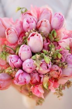 Pink Tulip Wedding Bouquet - Weddings: ZsaZsa Bellagio