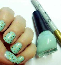 uñas decoradas con sharpie
