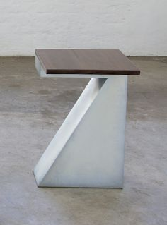 Possibilities (side table) Mild steel, mansonia wood 50 x 25 x 75 cm Edition of 10 Stoneware, Steel, Wood, Glass, Table, Inspiration, Design, Home Decor, Biblical Inspiration