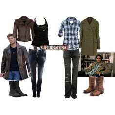 How to dress like... Sam and Dean Winchester    We should do this at some point.