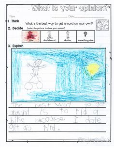 Mrs Jump's class: Opinion Writing for kindergarten and first grade