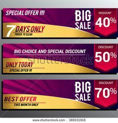 Big sale banner. Sale background. Big sale voucher. Big sale coupon. Sale and discounts poster. Vector illustration. - stock vector