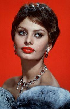 """Beautiful brown eyes, set in a marvelously vulpine, almost satanic, face - as beautiful as an erotic dream.""  -Richard Burton on Sophia Loren"