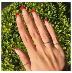 Red Stiletto Nails, Red Acrylic Nails, Coffin Nails, Glitter Nails, French Tip Acrylic Nails, White Tip Nails, Pointed Nails, Pastel Nails, Black Nails