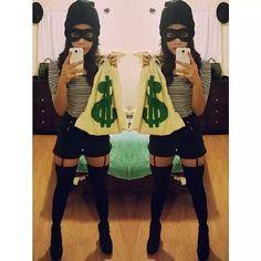 Sexy burglar Halloween costume