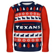Houston Texans NFL Ugly Sweater Wordmark available at uglyteams.com. Check out uglyteams.com for other merchandise and accessories! #Houston #Texans