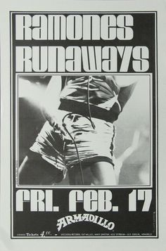 The Ramones and the Runaways original concert poster.
