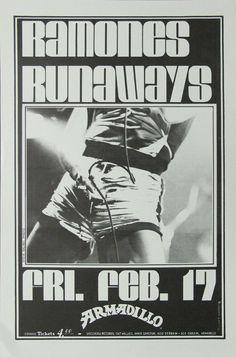 The Ramones and the Runaways original concert poster.