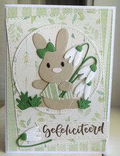 Baby Bunnies, Bunny, Marianne Design Cards, Cat Cards, General Crafts, Diy Garden Decor, Amazing Gardens, Making Ideas, Craft Projects