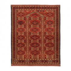 "Woven Legends Turkish Turkmen Rug - 3'8""x4'4"""