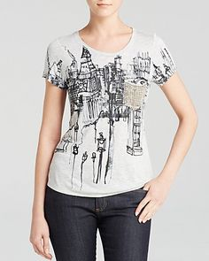 KAREN MILLEN London Print Tee - Bloomingdale's Exclusive | Bloomingdale's