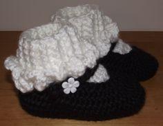 mary jane slippers free crochet pattern - Google Search