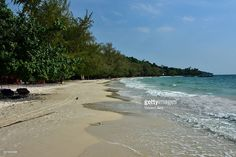 Seascape at Koh Rong beach, Sihanoukville, Cambodia, #getty images. Southeast Asia.