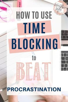 Using time blocking to beat procrastination and get stuff done. Block schedule promotes effective time management skills and helps to increase productivity. A great productivity hack and time management tips to help you with life organization. by lynette Effective Time Management, Time Management Strategies, Time Management Skills, Project Management, Block Scheduling, Productivity Hacks, How To Increase Productivity, How To Stop Procrastinating, Apps