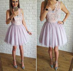 Tulle pastel dress / Tiulowa pudrowo-szara sukienka na wesele  349 zł  www.illuminate.pl