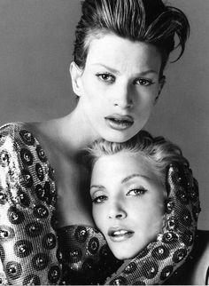 Richard Avedon, Kristen McMenamy Nadja Auermann Versace Campaign Spring 1995
