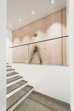 R house pr.marcello pontiggia architetto ©martina mambrin #architecture #interiors #photography #swiss #entrance #minimal #stairs #light