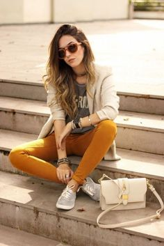 FashionCoolture - look du jour Keds Zara denim pants off white bag autumn outfit Fall Fashion Outfits, Girl Fashion, Casual Outfits, Cute Outfits, Fashion Looks, Fashion Trends, Blazer Outfits, Trending Fashion, Latest Fashion