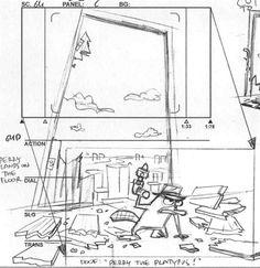 SpongeBob and Mr. Krabs in the Krusty Krab storyboard