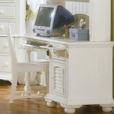 American Woodcrafters Cottage Traditions Computer Desk Finish: Eggshell White