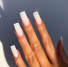 Best Chosen Acrylic Coffin Nails Design For Prom And Party Short Square Acrylic Nails, Simple Acrylic Nails, Best Acrylic Nails, Simple Nails, French Tip Acrylic Nails, Aycrlic Nails, Swag Nails, Coffin Nails, Nail Nail