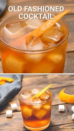 Old Fashioned Cocktail - Trend Whiskey Drinks 2019 Brandy Old Fashioned, Whiskey Old Fashioned, Old Fashioned Drink, Old Fashioned Recipes, Classic Old Fashioned Cocktail Recipe, Cider Cocktails, Easy Cocktails, Classic Cocktails, Cocktail Recipes