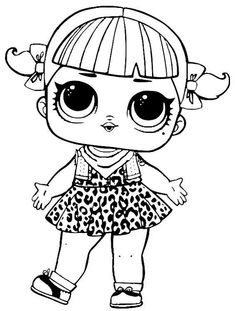 grunge grrrl series 3 l.o.l surprise doll coloring page