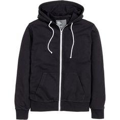 Hooded Jacket $24.99 ($25) ❤ liked on Polyvore featuring tops, hoodies, hooded sweatshirt, zip hoodies, sweat shirts, jersey tops and zippered hooded sweatshirt