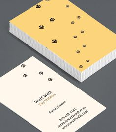Mucky Pups: these Business Cads for dog walkers are playful and fun, and prove you don't mind looking after a mucky pup. #moocards #luxebymoo #businesscard