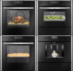 El espacio es esencial en este tipo de cocinas que buscan la comodidad y funcionalidad por encima de todo. Por eso, cada elemento se encuentra estratégicamente repartido con el fin de favorecer la actividad cotidiana en la cocina. Los módulos compactos Neff como los hornos compactos, los hornos más microondas, las cafeteras o los módulos de calentamiento son capaces de adaptarse a cualquier rincón de la cocina y su cuidado diseño combina a la perfección con este estilo.