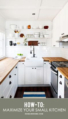 Tips and solutions for maximizing space and getting the most out of a small kitchen.