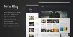 Download and review of Vetee Magazine WordPress Theme, one of the best Themeforest Magazine & Blogs themes