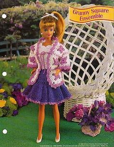 GRANNY SQUARE ENSEMBLE CROCHET PATTERN BY ANNIE'S FASHION DOLL CROCHET CLUB