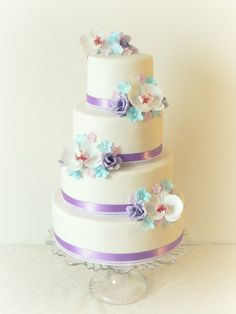 """Very pretty for brides who want that """"Traditional Wedding Cake"""" yet still memorable."""
