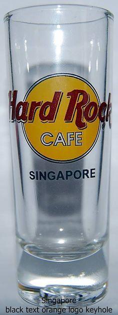 Hard Rock Cafe SINGAPORE Orange Logo Keyhole Shot Glass