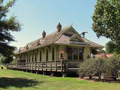 train station along Katy Trail in St Charles, Missouri