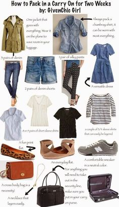 176 Mulberry Lane: packing stylishly in a carry on - Trendy Outfit Ideas tips tips closet tips for clothes tips for travel Travel Capsule, Travel Wear, Travel Style, Travel Outfits, Travel Clothes Women, Travel Outfit Summer, Travel Purse, Travel Shoes, Travel Fashion